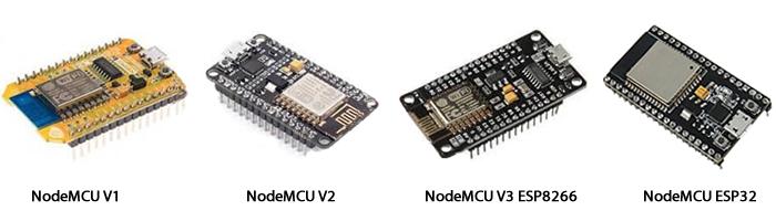 Modelos de NodeMCU com ESP8266 e ESP32