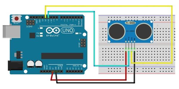 Exemplo Projeto Sensor Ultrassônico Arduino