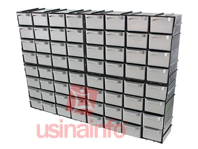 Gaveteiro de Plástico 7001 Modular com 16 Gavetas