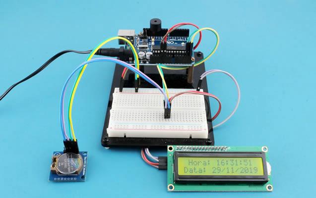 Modulo Arduino RTC e Display 16x2