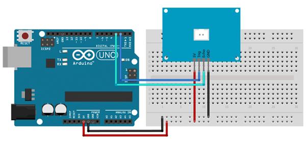 Exemplo de Ligação Sensor Ultrassônico JSN-SR04T com o Arduino