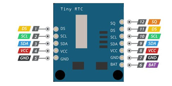 Pinout RTC Arduino DS1307