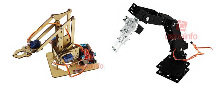 Servo motores empregados em braços robóticos