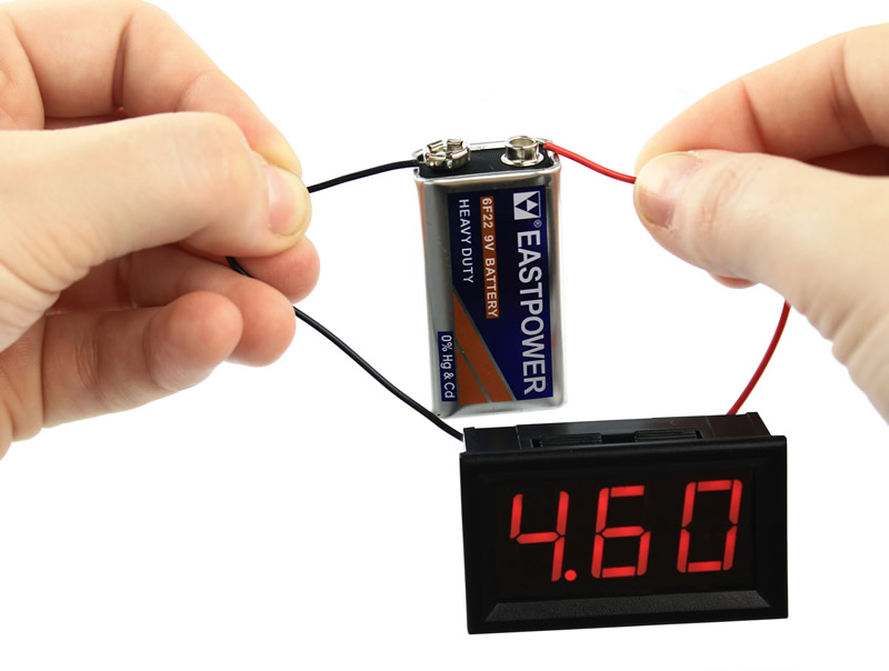 Voltímetro Digital de Corrente Contínua